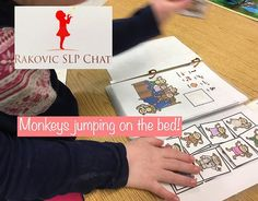 "Monkeys jumping on the bed is such a fun activity! The kids love to wag their finger and say ""No more monkeys jumping in the bed"" Four different adaptations to meet your student's needs."