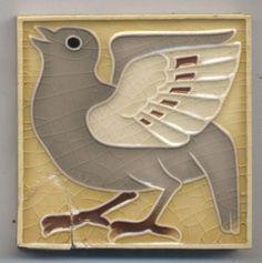 Super rare kleine Villeroy ?  Vogel  Jugendstil  Fliese  art  nouveau tile