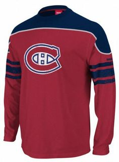 Reebok Montreal Canadiens Red Face Off Long Sleeve T-shirt by Reebok.   29.99. 18b9a8b5f96