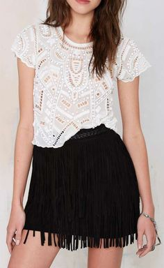 Lovers and Friends Daycation Beaded Crop Top, what a cute outfit for the summer