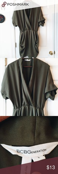 BCBG dress Love green. A few small spots like in picture. Very small and hard to tell. BCBGeneration Dresses