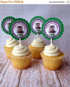 ON SALE 15 Personalized Chuck E Cheese Cupcake by susanefird