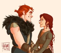 it amazes me how Valka is the only one Stoick would always aproach to as if she was something so delicate