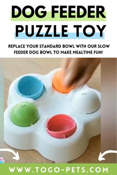 Replace your standard bowl with our slow feeder dog bowl to make mealtime fun! This combination of slow feeder and treat puzzle will help slow down your dog's eating pace while exercising your dog's mind. 🐶 STIMULATE BRAIN ACTIVITY: dog games for dog brain games. Interactive toys for dogs and puzzle for dogs, dog chew toys. Puppy game toys are not only for fun but also to strengthen your dog's cognitive abilities. Dog Treat Toys, Dog Chew Toys, Brain Games For Dogs, Dog Games, Dog Puzzles, Puzzle Toys, Dog Feeding Bowls, Dog Bowls, Dog Toys For Boredom