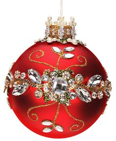 Mark Roberts Ornament with Clear Jewels
