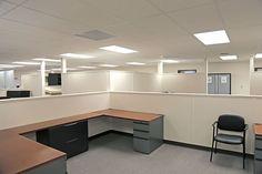 Office space inside the MCMJV swing space building, Manhattan, Kansas
