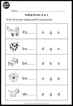 Beginning Sounds Worksheets, English Worksheets For Kindergarten, Kindergarten Reading Activities, Phonics Reading, Free Printable Kindergarten Worksheets, Vowel Worksheets, Literacy Worksheets, School Worksheets, Alphabet Worksheets