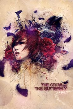 The Crow and The Butterfly by *theycallmeteddy