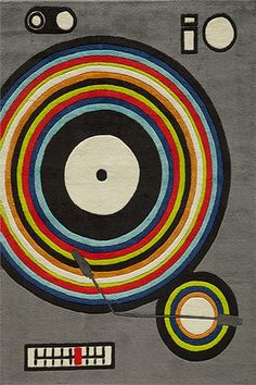 @rosenberryrooms is offering $20 OFF your purchase! Share the news and save!  Hipster Record Player Rug #rosenberryrooms