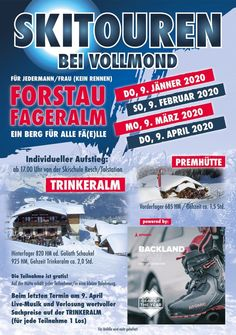 PL_A3_Vollm2020 Ski Touring, Full Moon, A3, Skiing, Comic Books, Tours, How To Get, Adventure, Landscape