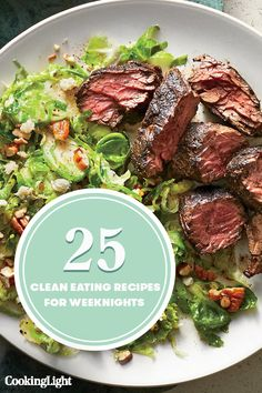 25 Clean Eating Recipes for Weeknights - Cooking Light Healthy Low Carb Dinners, Healthy Eating Recipes, Healthy Cooking, Entree Recipes, Beef Recipes, Dinner Recipes, Cooking Light Recipes, Big Meals, Eat Smart