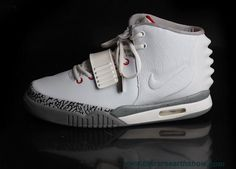 Nike Air Yeezy II Men Shoes White Gray Outlet