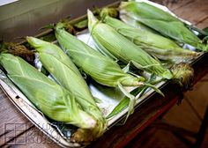How to make PERFECT Corn-on-the-Cob, every single time! Not only perfect, but none of that husking hassle! It's so easy, you won't believe the trouble you've been going through for so long. www.houseofjoyfulnoise.com how-to-cook-perfect-corn-on-the-cob, oven-cooked-corn-on-the-cob, easy-corn-on-the-cob, summer-side-dish, corn-on-the-cob-recipe, corn-on-the-cob-how-to