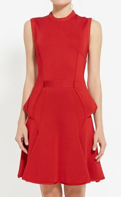 Red Pleated Dress.