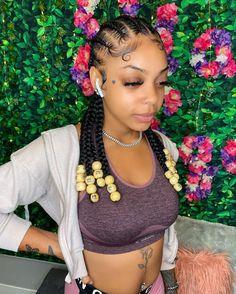 Feed In Braids Hairstyles, Braids Hairstyles Pictures, Black Girl Braided Hairstyles, Baddie Hairstyles, Protective Hairstyles, Prom Hairstyles, Protective Styles, Halloween Hairstyles, Easy Hairstyles