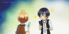 """Love Stage!! ~~ """"Let's exchange email addresses!"""" :: Izumi is a bit uncomfortable with his excitable new pal, Ryouma."""