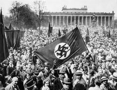 This is something I've never seen until now: Anti NAZI demonstration in Berlin 1932