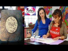 Desde el taller de ArteZ, Graciela Franco te eseña cómo aplicar pasta de modelado o modeling paste con stencil sobre una superficie grande, una técnica clave...