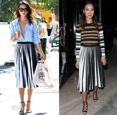 Jamie Chung's Day To Night Proenza Schouler Skirt