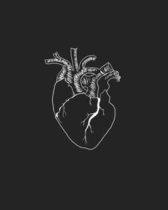 Discovered by グール ❊. Find images and videos about black, art and black and white on We Heart It - the app to get lost in what you love. Tattoo Painting, Hipster Design, Anatomical Heart, Heart Art, Greys Anatomy, Aesthetic Wallpapers, Illustration Art, Artsy, Sketches