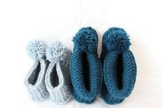 This slipper is worked back and forth on straight needles holding two strands of yarn and working them as one.