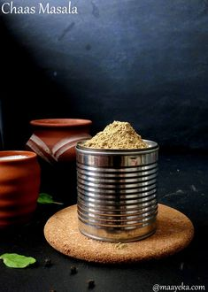Maayeka - Authentic Indian Vegetarian Recipes: Chaas Ka Masala - Spice Mix To make Butter Milk Plant-based, vegan, vegetarian, and gluten-free recipes Raitha Recipes, Indian Food Recipes, Masala Powder Recipe, Masala Recipe, Spice Blends, Spice Mixes, Pinch Of Spice, Sauces, Kitchens