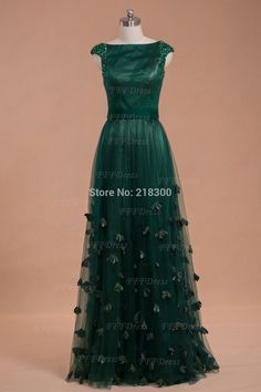 Aliexpress.com : Buy Modest Boat Neck Forest Green Prom Dresses ...