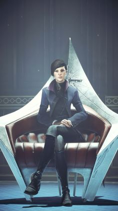 Dishonored Emily, Character Concept, Character Art, Emily Kaldwin, Arkane Studios, Call Of Duty, Video Games, Videogame Art, Black Eyed