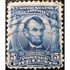 United States Postage, Abraham Lincoln, 5 C, Blue, 1901, used VF