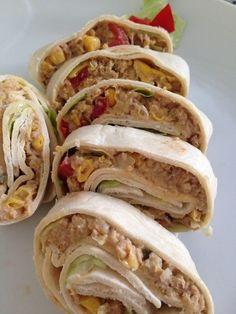 Thunfisch Wrap Sandwiches may be one of the smallest amount nutritious alternatives on the particular Sandwich Bread Recipes, Quesadilla Recipes, Chicken Sandwich, Healthy Recipes, Vegetarian Recipes, Tuna Wrap, Chicken Salad Recipes, Wrap Sandwiches, Hamburgers