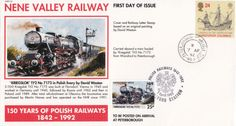 Nene Valley Railway FDC Carried Cover Wansford to Peterborough