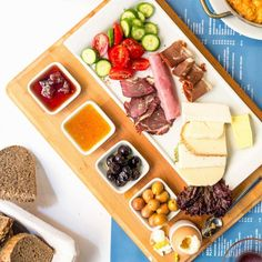 Turkish breakfast of cured meats and cheese