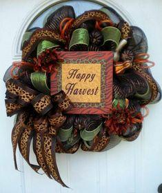 Fall Mesh Wreaths   Deco Mesh Autumn Creations Featuring Wreaths by Rita Trendy Tree Blog