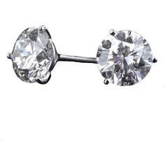 3.49 ct. t.w. Round Diamond Earrings (D, SI2)