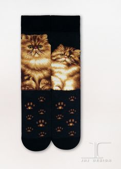 Cats - Persian Men Size | JHJ Design - The Art of Wearing Socks
