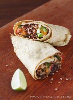 24. Quinoa Egg Wrap Breakfast Burrito #healthy #quinoa #recipes http://greatist.com/eat/breakfast-quinoa-recipes