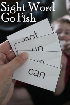 Word Go Fish Game This game could work with other subject specific vocabulary and words in French!Sight Word Go Fish Game This game could work with other subject specific vocabulary and words in French! Teaching Sight Words, Sight Word Practice, Sight Word Activities, Learning Activities, Kids Learning, Baby Activities, Learning Support, Spelling Activities, Learning Tools