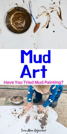 Mud Art Painting Toddler and Preschool Activity – Simple and Fun Want a quick and easy toddler activity? This Mud Painting Art Toddler and Preschool Activity is so much fun and so simple! A great outdoor activity for a rainy day or sunny day! Outdoor Activities For Toddlers, Weather Activities, Toddler Learning Activities, Spring Activities, Infant Activities, Preschool Activities, Nursery Activities, Painting Activities, Mud Paint
