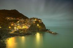 Manarola in the last daylight - Cinque Terre Unesco