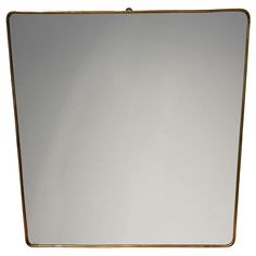 Brass Framed Italian Mirror | From a unique collection of antique and modern wall mirrors at http://www.1stdibs.com/furniture/mirrors/wall-mirrors/