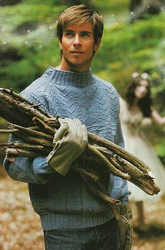 Lovely men's sweater! Pattern can be converted to knitting in the round and includes traditional gansey stitches and construction - download the pattern from LoveKnitting!
