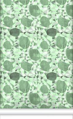 Wallpaper Republic Elizabeth Green Wallpaper, available at #polkadotpeacock. #peacocklove #wallpaperrepublic