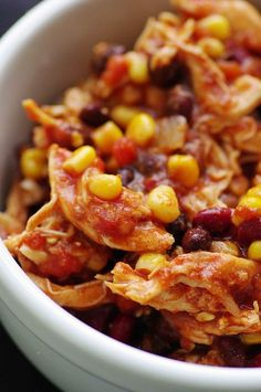 Crockpot Chicken Taco Chili - Weight Watchers recipe..