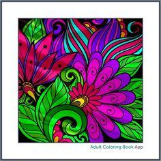 #adultcoloring #adultcoloringbook #adultcoloringbookapp #flowers #flora #floral