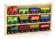 Train Car Set 12 Pc Wooden Toy Playset Toddler Kids Pretend Play Christmas Gift #KidsDestiny
