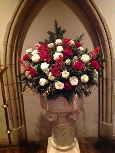 Christmas 2013 baptistery flowers