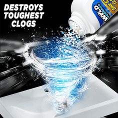 Get your drainage clear and sinks clean all at once with this multipurpose cleaner. Our Ultimate Sink & Drainage Cleaner is a unique, safe, but extremely power Unclog Shower Drains, Clogged Sink Drain, Sink Drain Cleaner, Bathtub Drain, Septic System, Soap Scum, Organic Matter, Cleaning Hacks, Cleaning Products