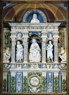 Giovanni della Robbia, Madonna col Bambino tra i SS. Giovanni Battista e Girolamo, 1513. Arcevia, San Medardo