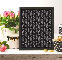 Leafs Pattern Print Line Art Black And White Digital art #pattern #ink #blackink #black #artwork #artist #art #black_and_white #blackandwhite #homedecor #decor #etsy #etsyshop #etsyseller #instantdownload #lineart #inkart #nurseryprint #nursery #artprint #drawing #brush #draw #digital #digitalart #minimalism #minimalist #minimalistprint #handmade #arts #arte #white #illustration #wallartprint #patternprint #modern #modernart #modernartprint  #pinterest #frame #decor #printable #printableart