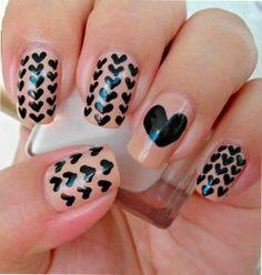 Decoración y diseños de uñas - Lo  en decoración de uñas con corazones - #decoracion #uñas #nail #design #nailart